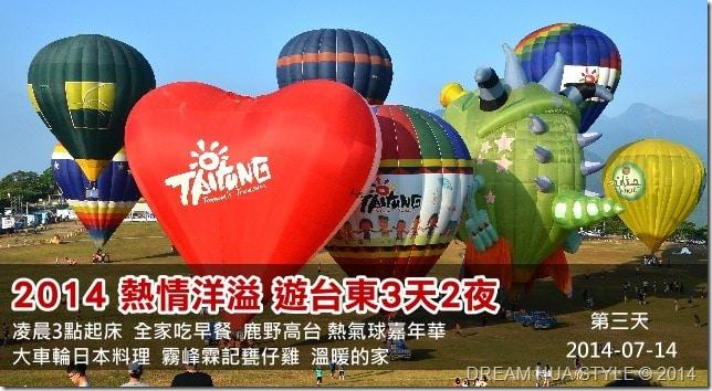 【台東旅遊】2014 熱情洋溢 遊台東3天2夜 第三天